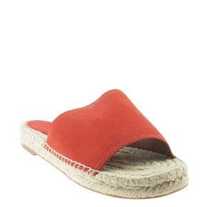Coach Claudia Red Suede Sandalsx Size 9 168154